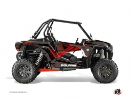 Graphic Kit UTV Rock Polaris RZR 1000 Black Red