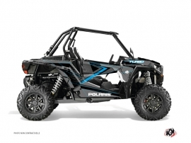 Graphic Kit UTV Rock Polaris RZR 1000 Turbo Black Blue
