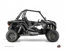 Graphic Kit UTV Rock Polaris RZR 1000 Turbo Black Grey