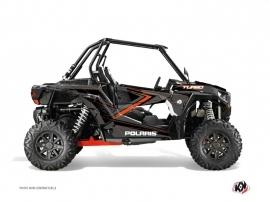 Graphic Kit UTV Rock Polaris RZR 1000 Turbo Black Orange