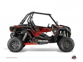Polaris RZR 1000 Turbo UTV ROCK Graphic kit Black Red