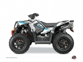 Polaris Scrambler 850-1000 XP ATV ROCK Graphic kit White Blue