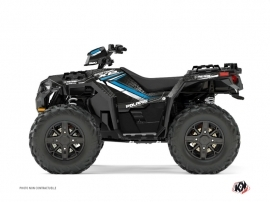 Graphic Kit ATV Rock Polaris 1000 Sportsman XP Forest Black Blue