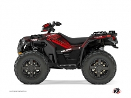 Graphic Kit ATV Rock Polaris 1000 Sportsman XP Forest Black Red