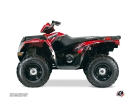 Polaris 500-800 Sportsman Forest ATV ROCK Graphic kit Red
