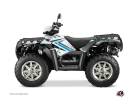 Graphic Kit ATV Rock Polaris 550-850-1000 Sportsman Forest White Blue