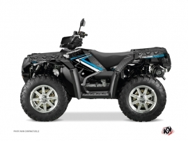Polaris 550-850-1000 Sportsman Forest ATV ROCK Graphic kit Black Blue