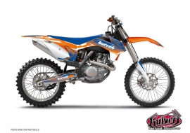 KTM EXC-EXCF Dirt Bike Slider Graphic Kit Blue