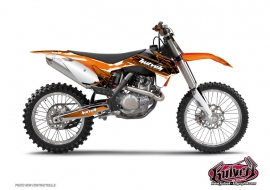 KTM EXC-EXCF Dirt Bike Slider Graphic Kit Black