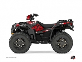 Polaris 1000 Sportsman XP Forest ATV SPIN Graphic kit Black Red