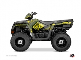 Graphic Kit ATV Spin Polaris 570 Sportsman Touring Yellow