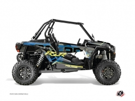 Graphic Kit UTV Squad Polaris RZR 1000 Blue Yellow