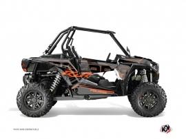 Graphic Kit UTV Squad Polaris RZR 1000 Turbo Grey Orange