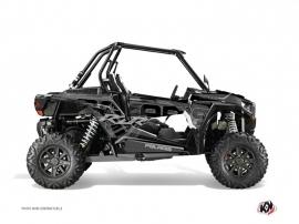 Graphic Kit UTV Squad Polaris RZR 1000 Turbo Black Grey
