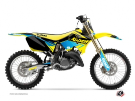Suzuki 125 RM Dirt Bike Stage Graphic Kit Yellow Blue