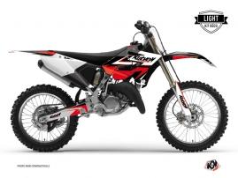 Yamaha 125 YZ Dirt Bike STAGE Graphic kit Black Red LIGHT