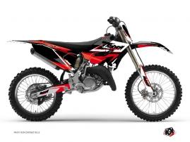 Yamaha 125 YZ Dirt Bike STAGE Graphic kit Black Red