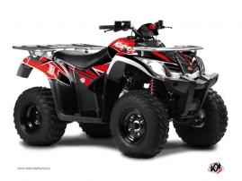 Kymco 250-300 MXU ATV Stage Graphic Kit Red Black
