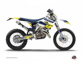Graphic Kit Dirt Bike Stage Husqvarna 250 FE White Yellow