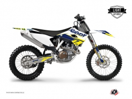 Husqvarna TC 250 Dirt Bike Stage Graphic Kit White Yellow LIGHT