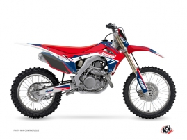 Honda 250 CRF Dirt Bike STAGE Graphic kit Blue Red