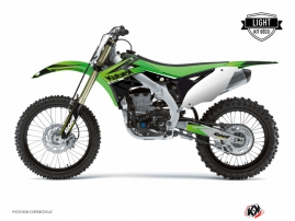 Kawasaki 250 KXF Dirt Bike Stage Graphic Kit Green LIGHT
