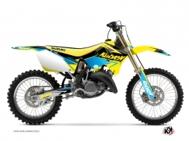 Suzuki 250 RM Dirt Bike STAGE Graphic kit Yellow Blue