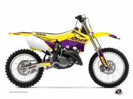 Suzuki 250 RM Dirt Bike STAGE Graphic kit Yellow Purple