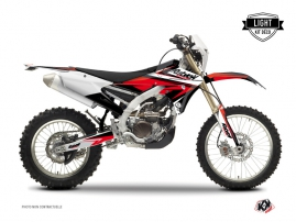Yamaha 250 WRF Dirt Bike STAGE Graphic kit Black Red LIGHT