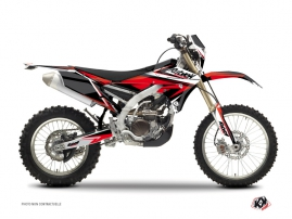 Yamaha 250 WRF Dirt Bike STAGE Graphic kit Black Red