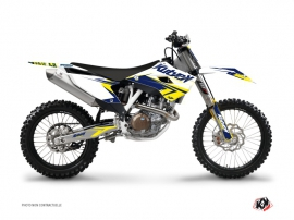 Graphic Kit Dirt Bike Stage Husqvarna FC 350 White Yellow