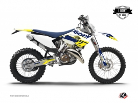 Husqvarna 350 FE Dirt Bike Stage Graphic Kit White Yellow LIGHT