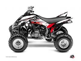 Graphic Kit ATV Stage Yamaha 350 Raptor Black Red