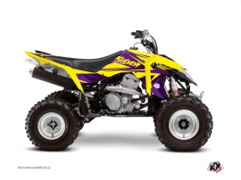 Graphic Kit ATV Stage Suzuki 400 LTZ IE Yellow Purple