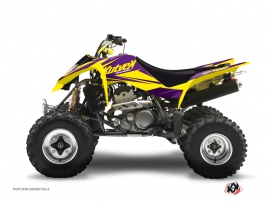 Graphic Kit ATV Stage Suzuki 400 LTZ Yellow Purple