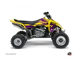 Graphic Kit ATV Stage Suzuki 450 LTR Yellow Purple