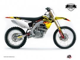 Suzuki 450 RMZ Dirt Bike STAGE Graphic kit Yellow Red LIGHT