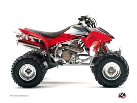 Graphic Kit ATV Stage Honda 450 TRX Black Red