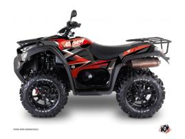 Kymco 550-700 MXU ATV Stage Graphic Kit Red Black