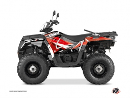 Polaris 570 Sportsman Forest ATV STAGE Graphic kit Red