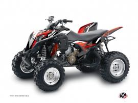 Graphic Kit ATV Stage Honda 700 TRX Black Red