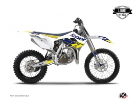 Husqvarna TC 85 Dirt Bike STAGE Graphic kit White Yellow LIGHT