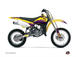 Suzuki 85 RM Dirt Bike STAGE Graphic kit Yellow Purple