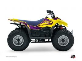 Suzuki 90 LTZ ATV STAGE Graphic kit Yellow Purple