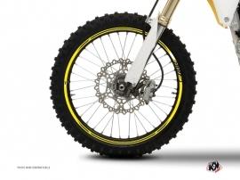 Graphic Kit Wheel decals Dirt Bike Stage White Yellow