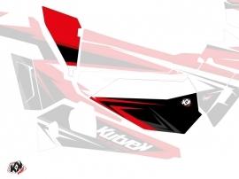 Graphic Kit Doors Low Dragonfire Stage UTV Polaris RZR 900S/1000/Turbo 2015-2017 Black Red