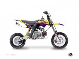 YCF F125 Dirt Bike STAGE Graphic kit Yellow Purple