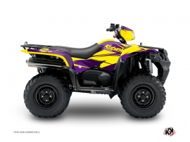 Graphic Kit ATV Stage Suzuki King Quad 400 Yellow Purple