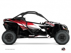 Can Am Maverick X3 UTV Stage Graphic Kit Red