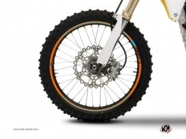 Graphic Kit Wheel decals Dirt Bike Stage Orange Blue